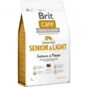 Brit Care Grain-Free Senior&Light Salmon&Potato 12kg