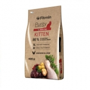 FITMIN Purity cat Kitten. Begrūdis su vištiena, 400g