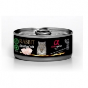 Alpha Spirit Cat Sterilised su triušiena, 85 g